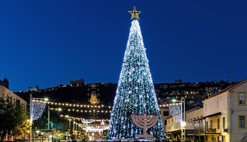 christmas and hanukkah in israel