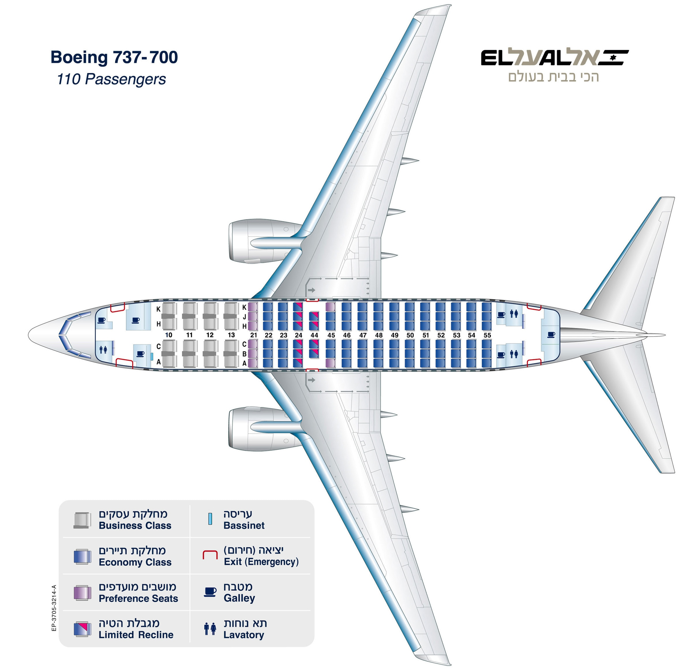For the seating chart of Boeing 737 700 click here