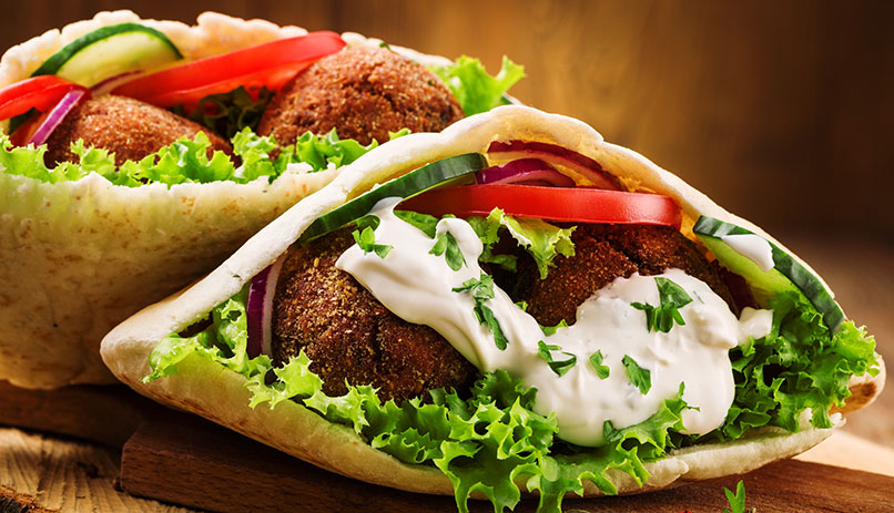 Falafel - the populer street food in Israel