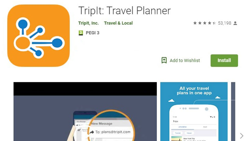 TripIt Application