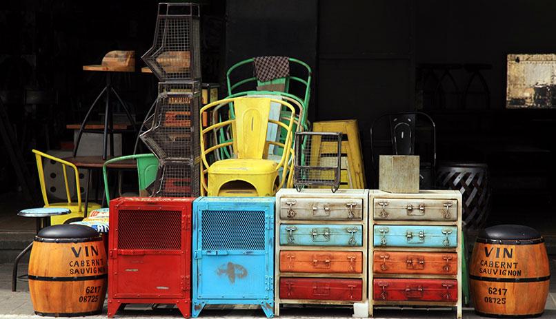 JaffaVintage furniture in flea market in